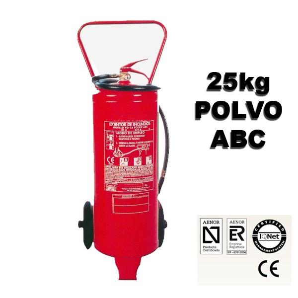extintor de polvo abc 25 kilos